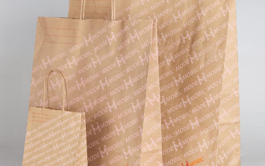 MODEMOBIL setzt auf Recycle-Papier-Taschen
